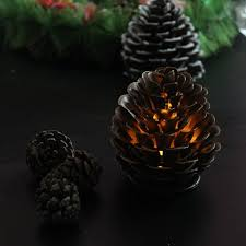 pine cone tea light holder amazon com youngerbaby pinecone color artificial pine cone shaped