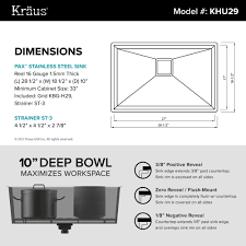 28 inch kitchen sink stainless steel kitchen sinks kraususa com