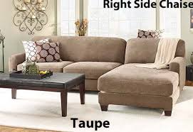 Sofa Chaise Slipcover Slipcover Sectional Sofa Cover In Durable Stretch Pique