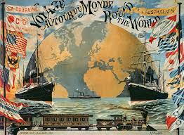 voyage around the world poster for the compagnie generale voyage around the world poster for the compagnie generale transatlantique wall mural wall murals and voyage around the world poster for the