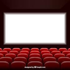 siege de cinema cinéma avec écran et sièges télécharger des vecteurs gratuitement
