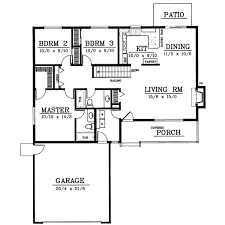 3 Bedroom Open Floor House Plans Ranch Style House Plans 1314 Square Foot Home 1 Story 3