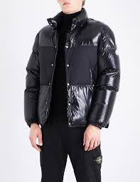 moncler aynard shell down jacket in black for men lyst