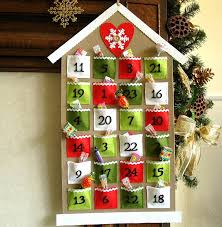 handmade felt advent calendar advent calendars chocolate and gift