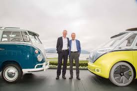 new volkswagen bus yellow vw microbus due in 2022 as electric minivan by car magazine