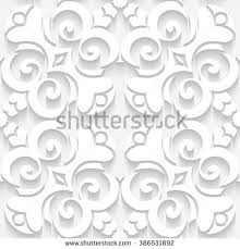 cutout paper lace texture tulle ornament stock illustration
