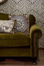 living eclectic soft velvet mustard sofa on the damask