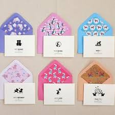 30 pieces lot creative korean small gift message greeting cards