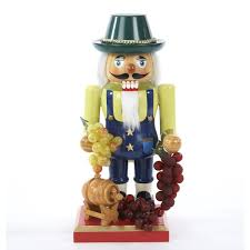 christmas nutcrackers winemaker with wine barrel and grapes wooden christmas nutcracker