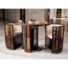 Kitchen Tables Furniture Amazon Com Design Toscano Power Of Books Glass Topped Side Table