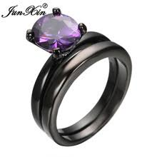 Black Wedding Rings For Her by Popular Black And Purple Wedding Rings For Couples Buy Cheap Black