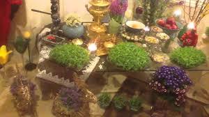 Iranian New Year Table Decoration by Haftsin Haftshin 1393 Persian New Year 2014 Youtube