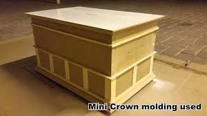 Small Wooden Box Plans Free by Making A Wooden Coin Box Project With A Chair Rail Design Diy