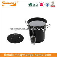black painting galvanized steel metal storage ice bucket with