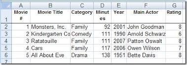 create a movie collection database in excel contextures blog