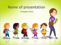 illustration of kids following their teacher stock vector