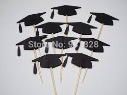 graduation cap cake topper black graduation cap cupcake toppers food picks graduation cupcake