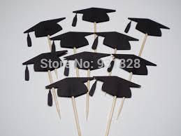 graduation cake toppers black graduation cap cupcake toppers food picks graduation cupcake
