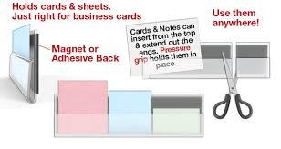 Magnetic Business Card Holder Cardgrip Transparent Card U0026 Note Holders