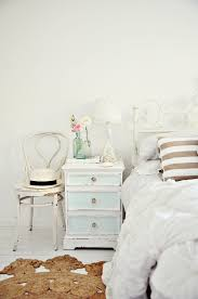 vases decor bedroom shabby chic style with bedside table