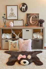 Pink Rug For Girls Room Woodland Nursery Decor Baby Bear Rug By Claraloo For The