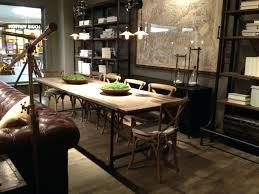 restoration hardware dining room table tables like zinc set for
