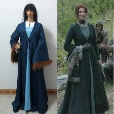 Games Thrones Halloween Costumes Aliexpress Buy Game Thrones House Tully Catelyn Stark