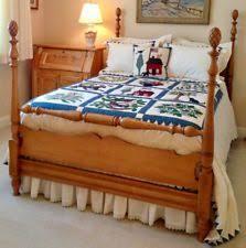 Solid Maple Bedroom Set Colonial Antique Beds U0026 Bedroom Sets 1950 Now Ebay