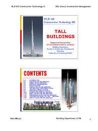 tall building mka jan 2011 framing construction truss