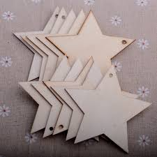 wooden shape ornament diy craft plain christmas tree hanging