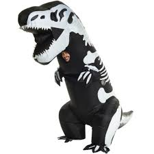 Inflatable Halloween Costumes Skeleton Rex Dinosaur Inflatable Halloween Costume