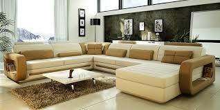 U Shaped Sofa Sectional by Large U Shaped Leather Sectional Sofa 2018 Cozysofa Info