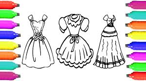 coloring pages dresses for girls how to draw clothes for kids
