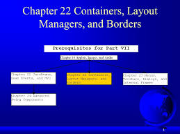 java null layout manager swing 1 chapter 22 containers layout managers and borders ppt download