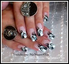 black and white abstract nail art design nail art gallery