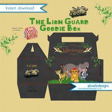 the lion guard goodie favor box u2013 instant download custom