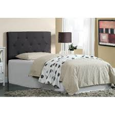 Upholstered Twin Beds Leroy Gray Upholstered Twin Headboard Rc Willey Furniture Store