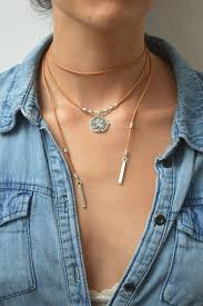 leather choker chain necklace images Leather choker necklace wrap choker wrap necklace tie up bolo jpg