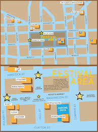 Festival Map Athfest Festival Location Map Downtown Athens Ga
