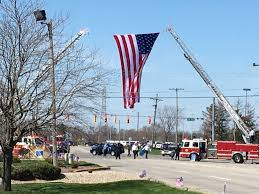 Garrison Flag Size Photos Funeral Procession And Burial For Deputy Koontz Fox59