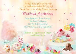 candy theme baby shower invitation sweet 16 printable and