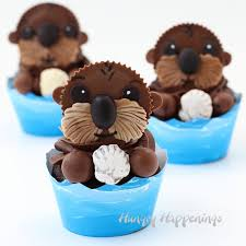 otter cake topper sea otter cupcakes finding dory party ideas