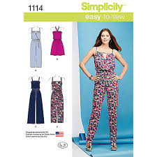 buy jumpsuit buy simplicity s dress and jumpsuit sewing pattern 1114