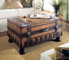 Trunk Ottoman Coffee Table Trunk Coffee Table Rustic Chest Coffee Table
