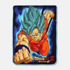 crunchyroll super saiyan god super saiyan goku throw blanket