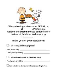 classroom thanksgiving feast sign up by sptalkative tpt