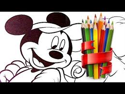 mickey and his dog kid coloring pages baby coloriage youtube