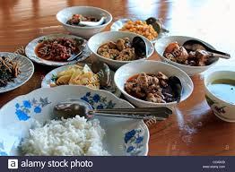 traditional buffet traditional burmese buffet lunch new bagan pagan myanmar