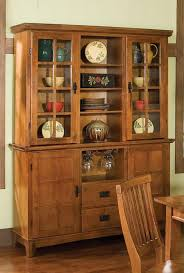 home styles arts and crafts cottage oak dining buffet and hutch