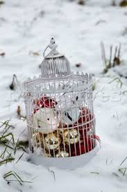White Bird Christmas Decorations by Decorating Bird Cages For Christmas White Decorative Birdcage